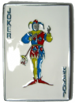 Joker Card Belt Buckle + display stand. Code ZF3
